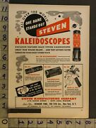 1950 Toy Ad Steven Kaleidoscope Optical Instrument St Louis Mo Rock-a-toy Tf73