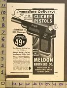 1946 Toy Ad P-38 Pistol Cap Gun Clicker Airplane Meldon Brothers Cleveland Th49