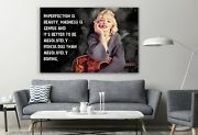 Marilyn Monroe Imperfection Is Beauty, Madness Is Genius Canvas Décor Wall Art