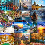 Diy Paint Ship Sunset Scenery By Number Kit Digital Oil Painting Wall Home Decor