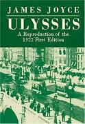 Ulysses A Reproduction Of The 1922 First Edition Paperback James Joyce