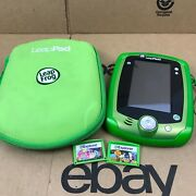 Leapfrog Leappad Ultra Carrying Case Green With 2 Games 2.d1