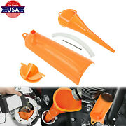 9and039and039 Crankcase Fill + Primary Case Oil Fill + Drip-free Oil Funnel Fit For Harley