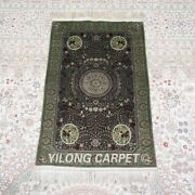 Yilong 2and039x3and039 500lines Handmade Silk Area Rug Living Room Tapestry Carpet 582h