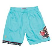 Vancouver Grizzlies 1996 Nba Mitchell And Ness Authentic Swingman Shorts - Teal