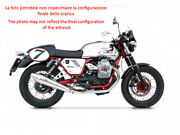Double Exhaust Zard Steel Polished Approved Moto Guzzi V7 Cafe' Racer 2009-12