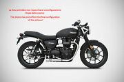 Exhaust Zard Steel Polished Conical Approved Triumph Street Twin 900 17-18