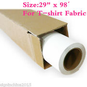 29 X 98' Roll White Color Printable Heat Transfer Vinyl For T-shirt Fabric