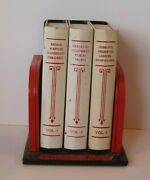 Vintage 1940and039s Red And Black Chef-an-ette Tin Hinged Recipe Box