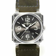 Bell And Ross Br03-92 Gray Lum Menand039s Watch Br0392-gc3-st / Sca Gray Menand039s