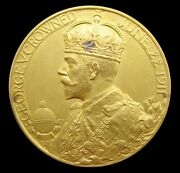 1911 George V Coronation 31mm Gold Cased Medal - By Mackennal