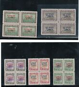 Greenland 19 - 27 Extra Fine Never Hinged Set In Blocks
