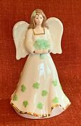 Lenox Irish Angel With Shamrock Bouquet And Gown 5 3/4 Figurine Mint