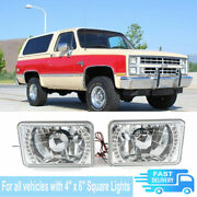 Universal 4 X 6 Inch Square White Led Headlight Projector Headlamp Bumper Lamps