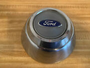Ford Truck Center Cap 7 Inch Dog Bowl Style Blue Logo Stainless Steel 1980-87