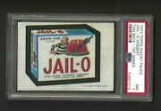 Wacky Packages Series 1 Jail-o Psa 7 1973 1st Series Tan Back Rare Only 1 Higher