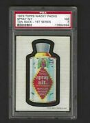 Wacky Packages Series 1 Spray Nit Psa 7 1973 1st Series Tan Back Rare 1 Of1