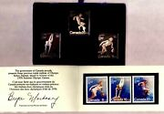 Canada 1976 Olympics B10-b12 .999 Pure Silver Stamp Set/3 In Case + Stamps