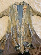 Lee Andersen Blue/multicolor Duster Size Small