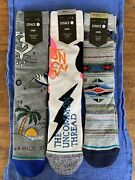 Stance Rebirth Washed Upp Predecessor Large Crew Socks Lot Of 3 Nwt