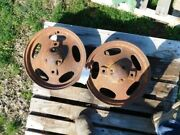 Two Front Wheels For A John Deere H Tractor Tag 905