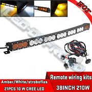 Dual Color Led Work Light Bar 210w 38inch Cree 10w Led's 12v,24v,4x4 4wd Offroad