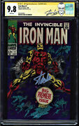 Iron Man 1 Cgc 9.8 White Ss Stan Lee Origin Of Iron Man Retold Cgc 0351036002