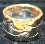 Georg Jensen Fusion Puzzle 18ct Whiteandrose Gold 3 Piece Ring From Japan-size 49