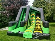 Commercial Bouncy Castle Airquee Double Climb Warrior Wall 20ft X 14ft X 15ft