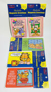 Vintage Garfield Magnetic Greeting Card Lot Of 5 New Sealed 1997 Made In Usa