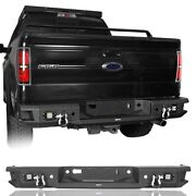 Fit Ford F-150 2006-2014 Rear Step Bumper Bar W/led License Plate Light Assembly