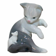 Lladro Figurine 5236 Cat And Mouse W/ Box