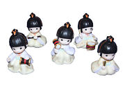 Precious Moments Rhythm And Flute Rare 5 Pc Japanese Exclusive W/ Box
