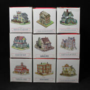 Lot Of 9 Boxed 1994 Liberty Falls The Americana Collection Houses Cf00521