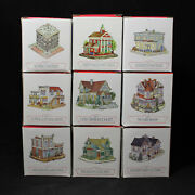 Lot Of 9 Boxed 1994 Liberty Falls The Americana Collection Houses Cf00522