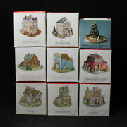Lot Of 9 Boxed 1994 Liberty Falls The Americana Collection Houses Cf00523