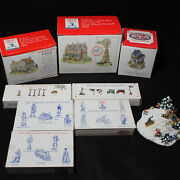 Lot Of 9 Boxed 1994 Liberty Falls The Americana Collection Accessories Cf00525