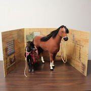 American Girl Felicity's Horse Penny With Foal And Accessories