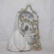 Lladro Figurine 1876 Spring Of Love, As Is, Damaged Flowers