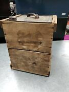 Rare Oil Can In Crate Socony Veedol Imperial Lubrite Antique Gas Oil Shell