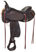 """High Horse Circle Y 17"""" Oyster Creek Saddle Walnut Leather Wide 6808-1701-05"""