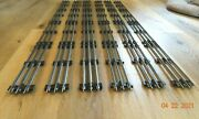 Lionel O Gauge 40 Straight Track Sections Lot Of 6 - Nice Clean Track