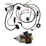 Wiring Harness Electric Starter Motor Gy6 125cc 150cc Scooter Go Kart Atv Quad