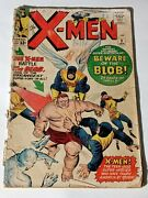 X-men 3 1st Appearance Of The Blob Marvel Silver Age Key Low Grade Filler Bewa.