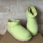 Ugg Classic Ultra Mini Pollen Water-resistant Suede Ankle Boots Size Us 7 Women