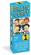 Brain Quest 1st Grade Qanda Cards 750 Questions And Answers To Challenge The M...