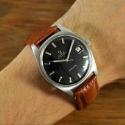 Original 1968and039 Omega Geneve Automatic Quickset Date Vintage Gents Watch 166.041