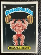 1985 Garbage Pail Kids 51a Russell Muscle