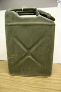 Antique Wwii Usa Gas Can Marshall-wells