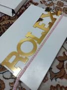 Rolex Brass Letters Dealer Display Sign Very Rare Big Letters New Old Stock